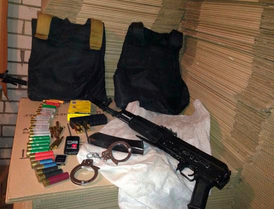 Оружие, боеприпасы и вещи разбойников