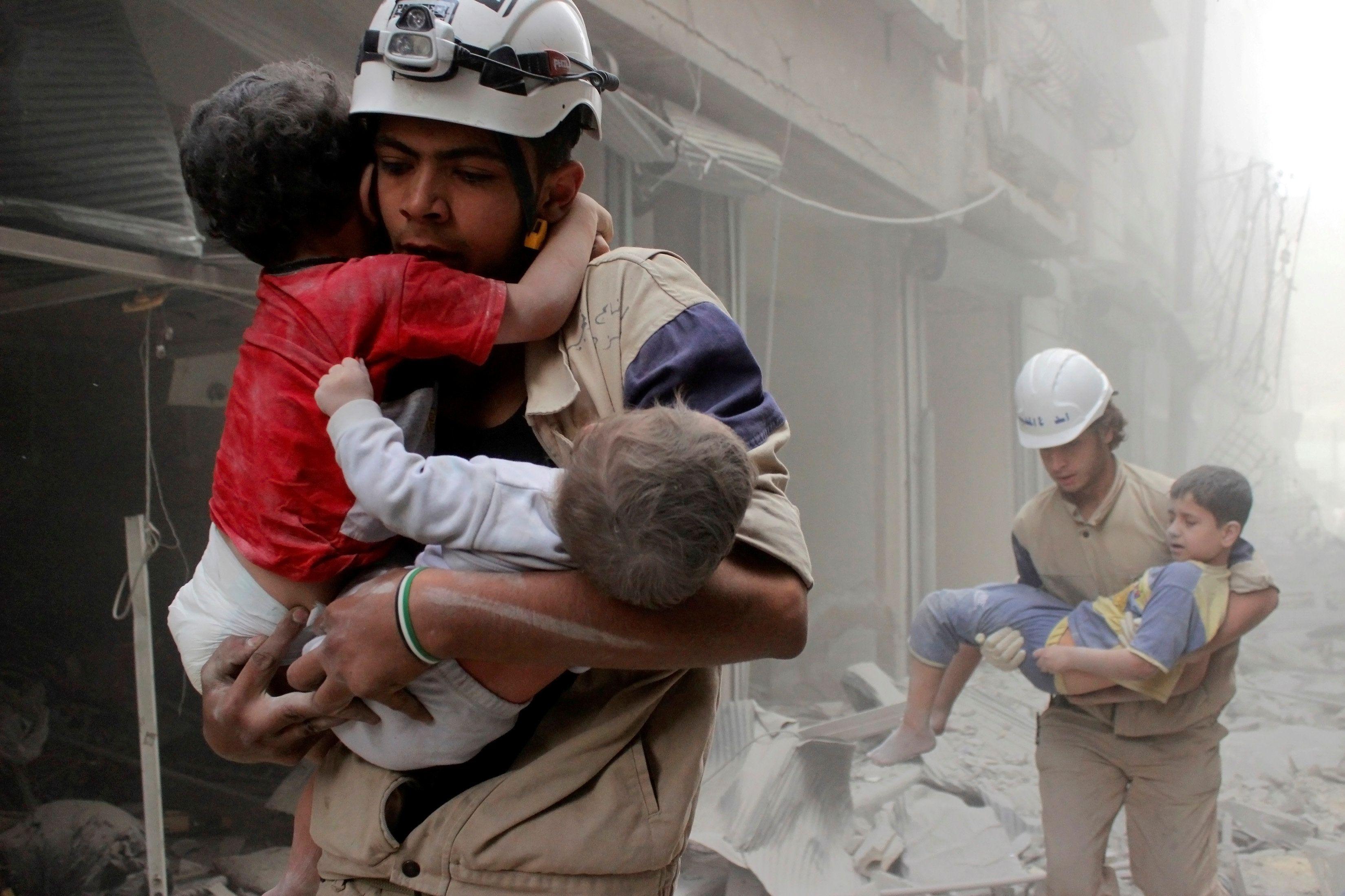 Бомбардировка Алеппо, иллюстрация