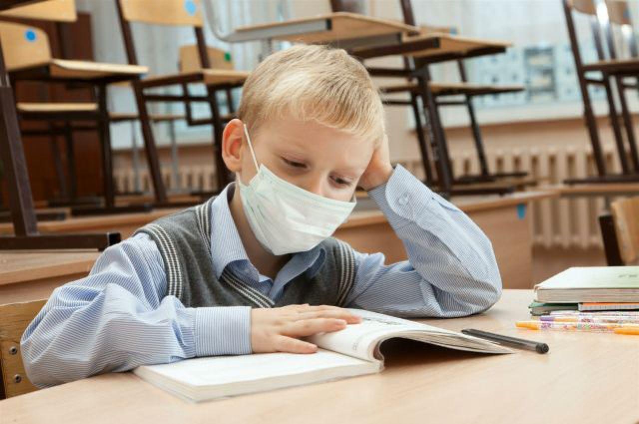 Из-за гриппа в школах объявлен карантин