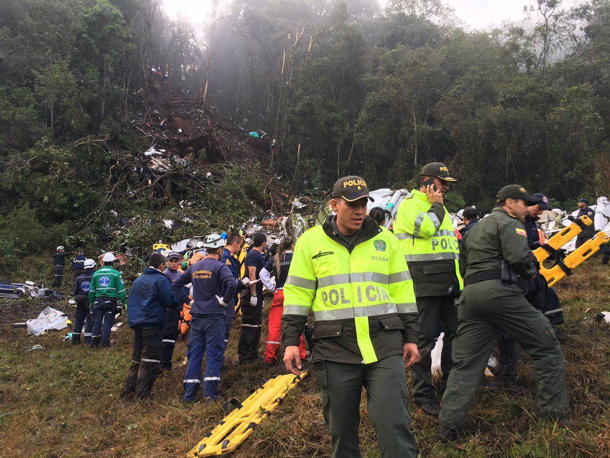 Крушение самолета в Колумбии.