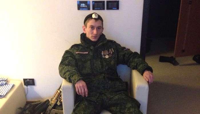 Российский офицер из Тюмени Олег Дубинина.