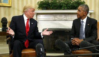 Барак Обама, Дональд Трамп