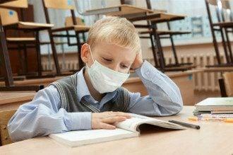 ученики, школьники, дети, ОРВИ, грипп