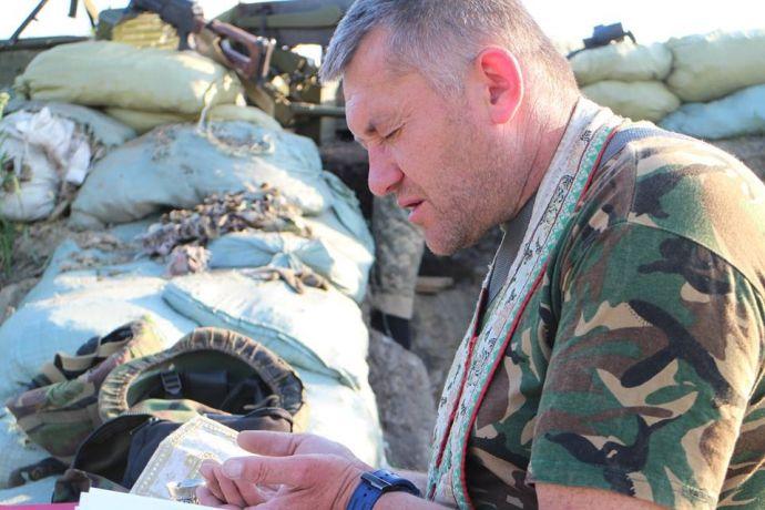 Капеллан из зоны АТО Николай Мединский (Зализняк).
