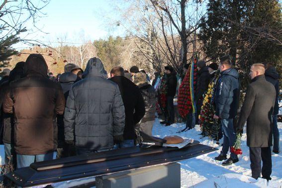 В Украине простились с убитыми в перестрелке в Княжичах