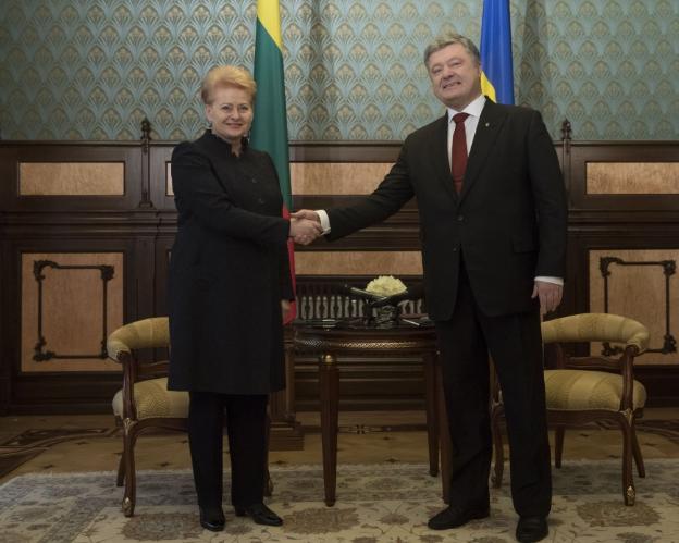 Даля Грибаускайте и Петр Порошенко