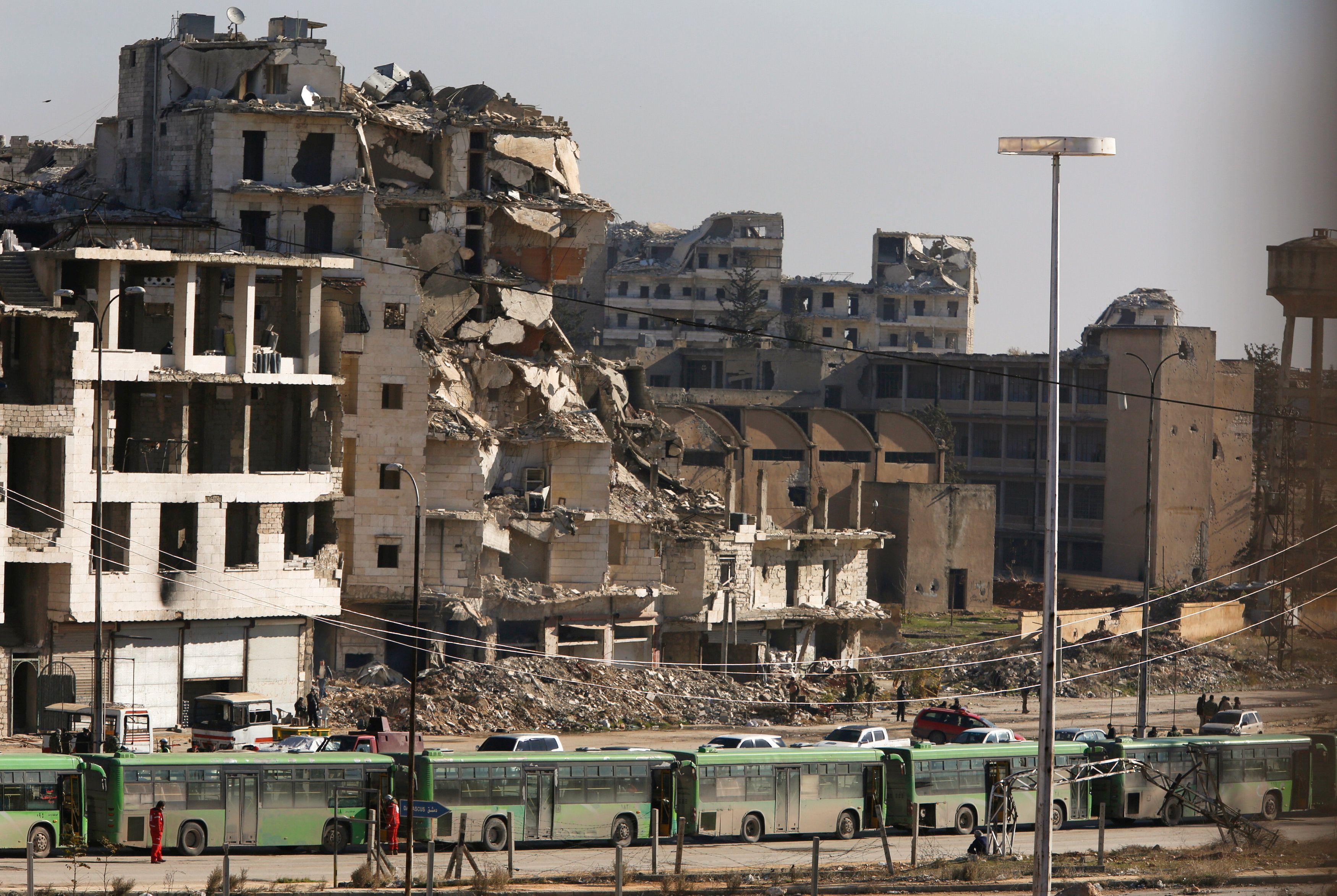 Разрушения в сирийском Алеппо, иллюстрация
