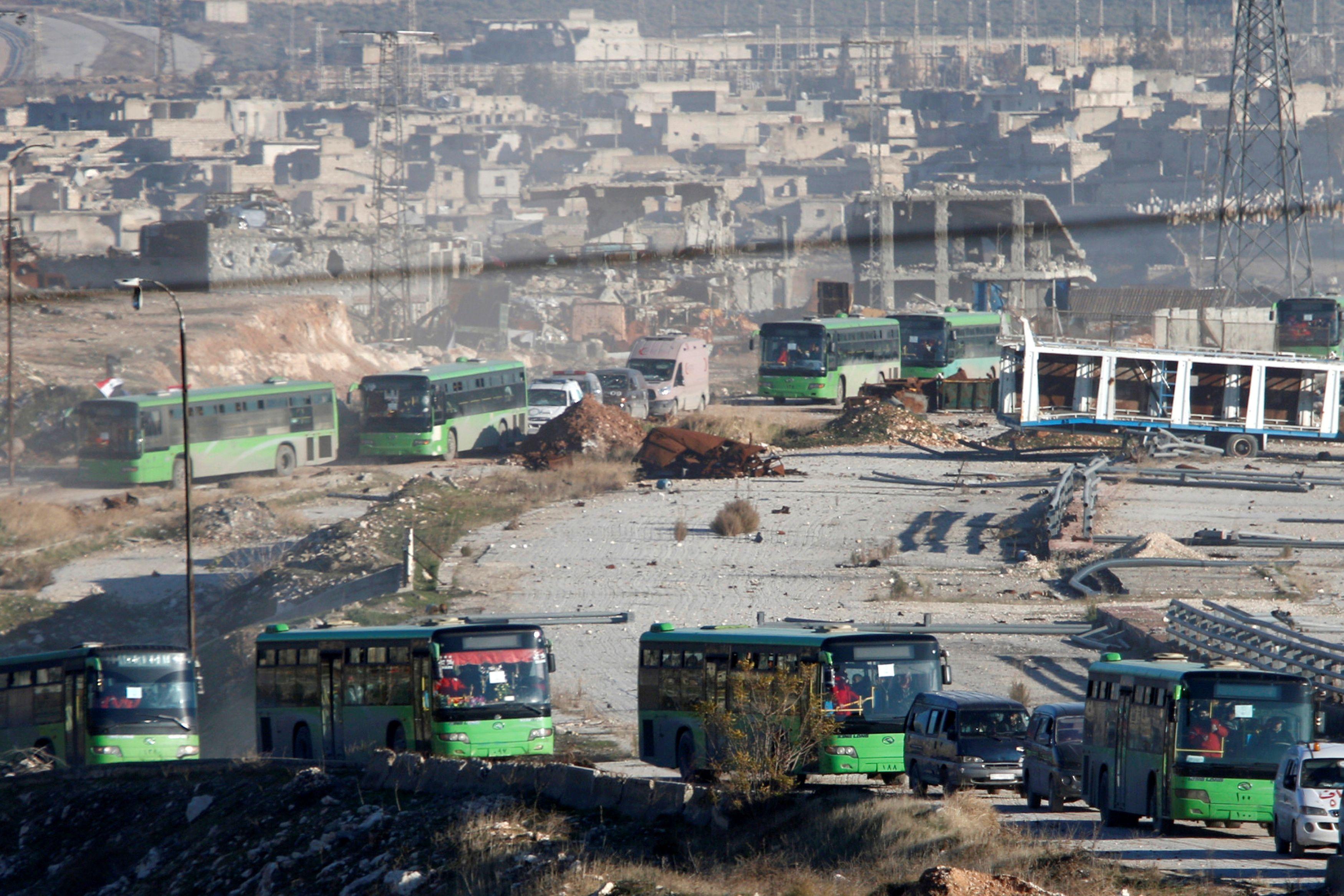 Эвакуация сирийцев Алеппо