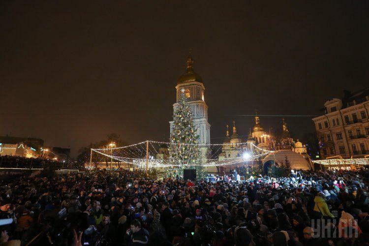 Новогодняя елка в Киеве