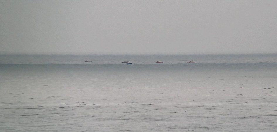 Поисковые работы на месте крушения самолета в Черном море