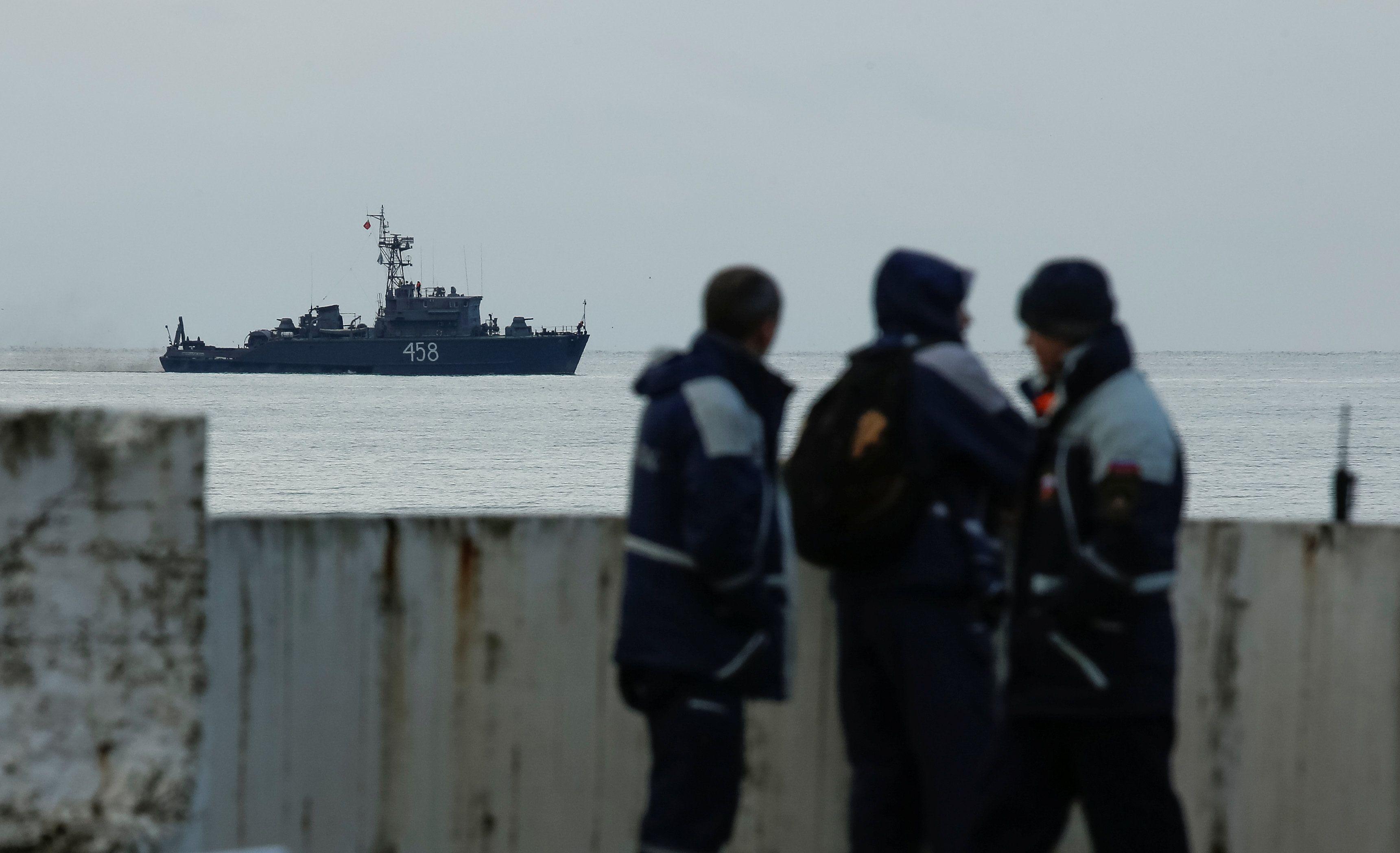 Поисковая операция в Черном море, иллюстрация