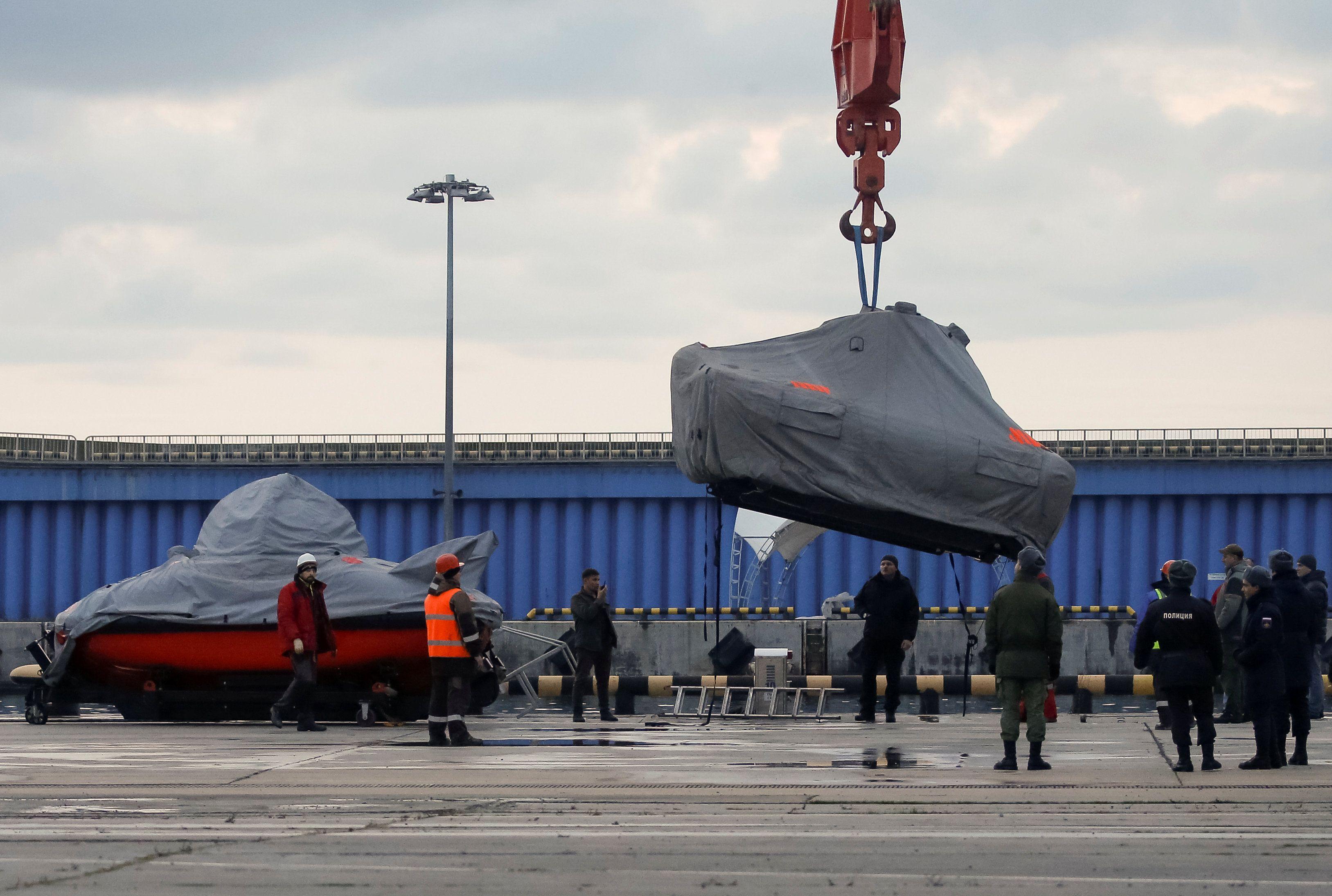 Поиски Ту-154 в Черном море.
