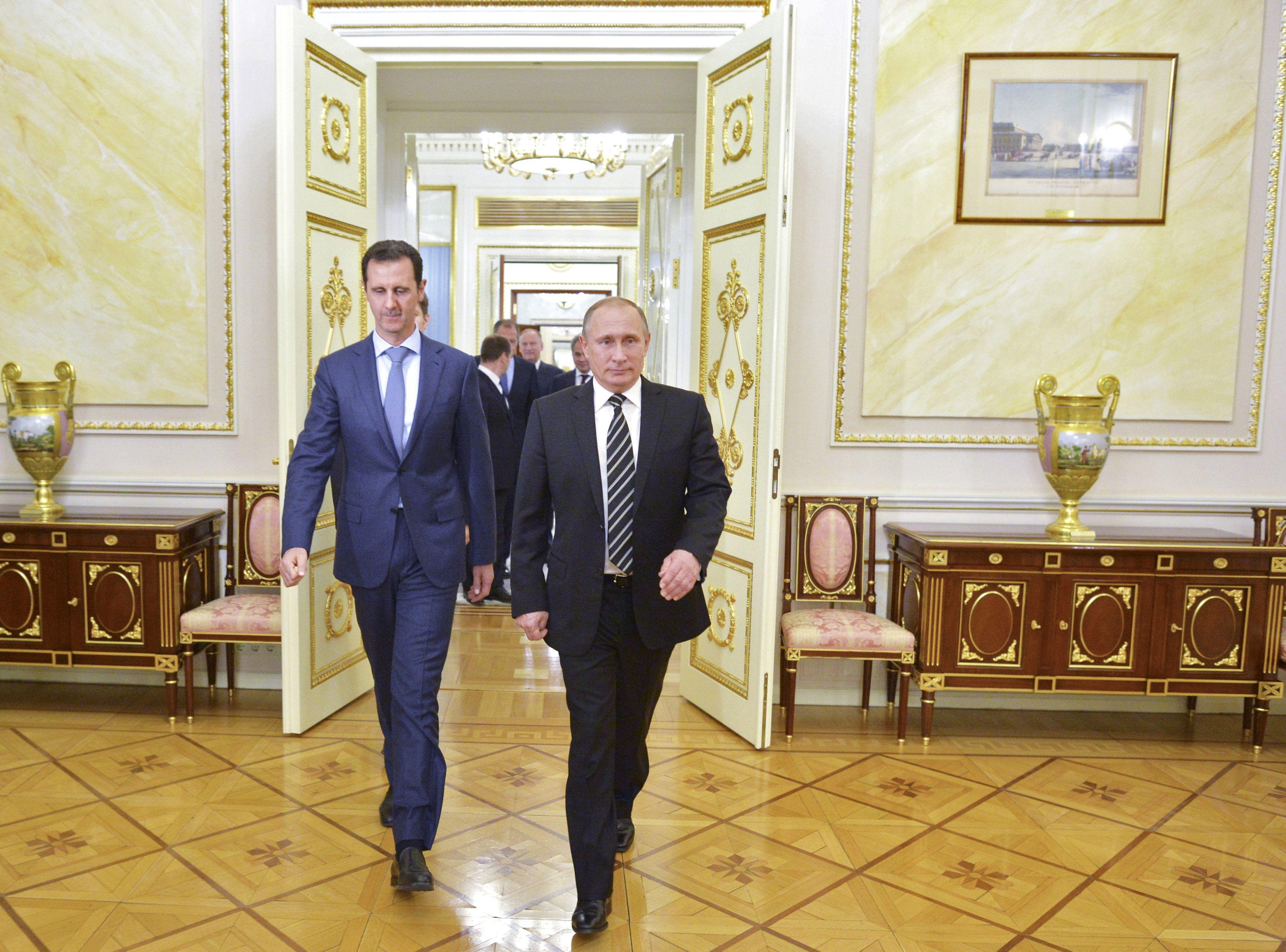 Путин и Башар аль-Асад