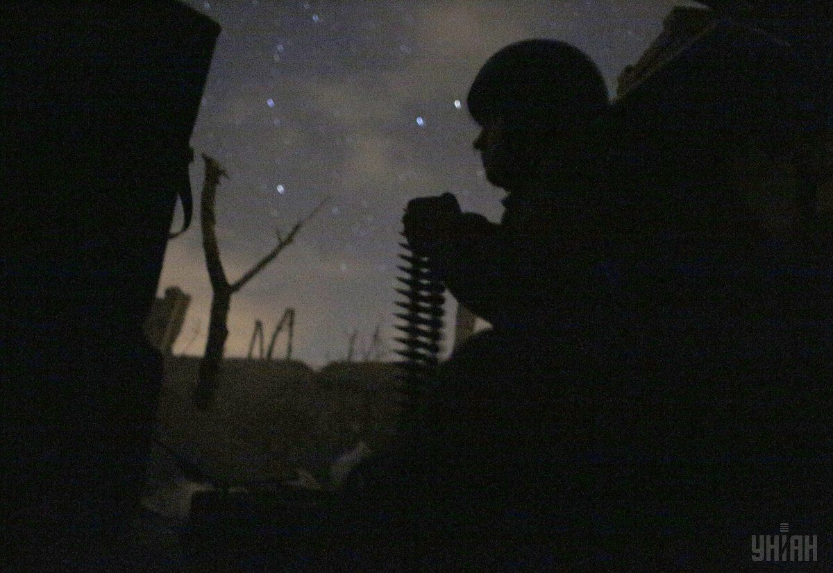 Украинский военный в зоне АТО, иллюстрация