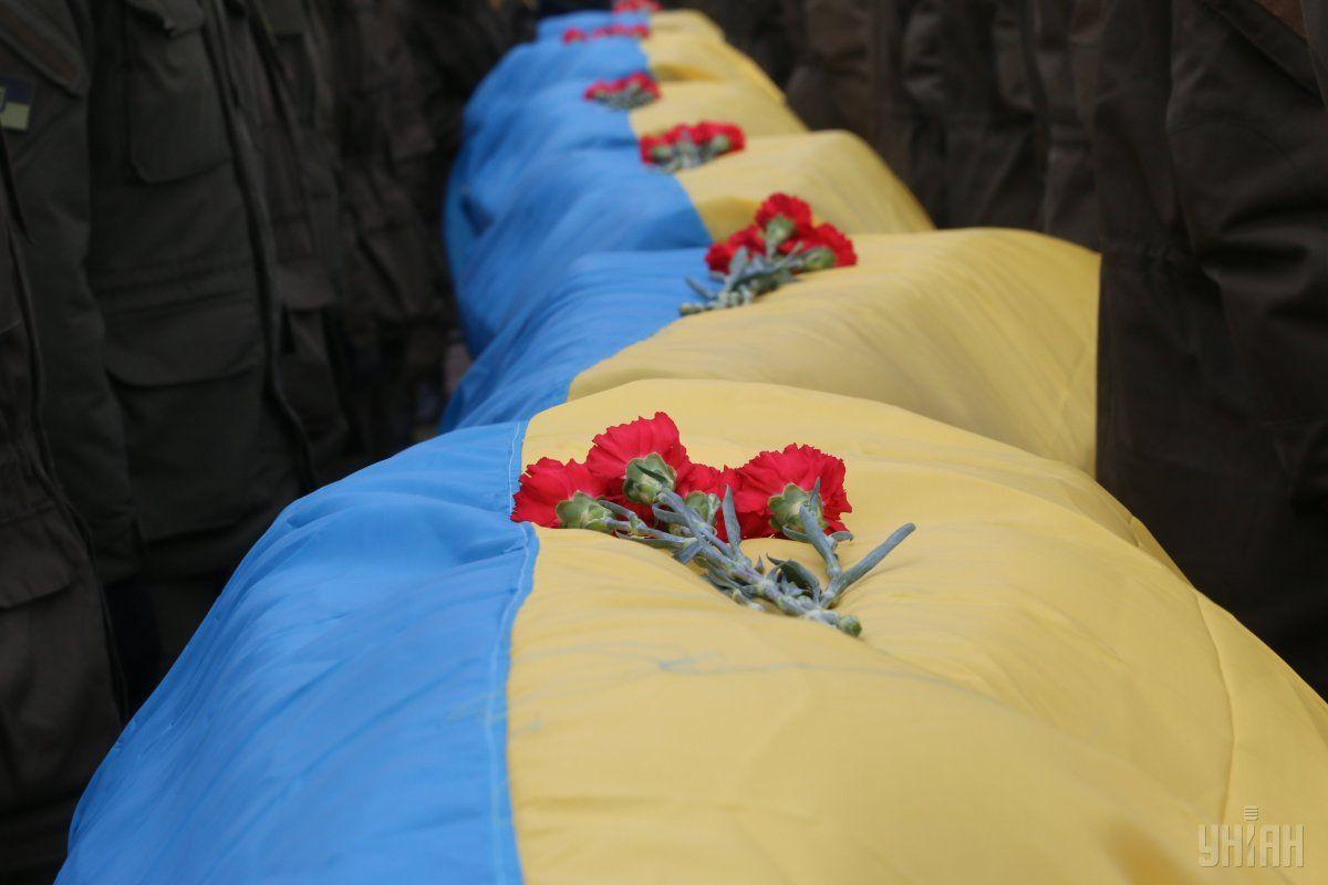 Церемония прощания с неизвестными украинскими бойцами, погибшими в зоне АТО, на Краснопольском кладбище в Днепр