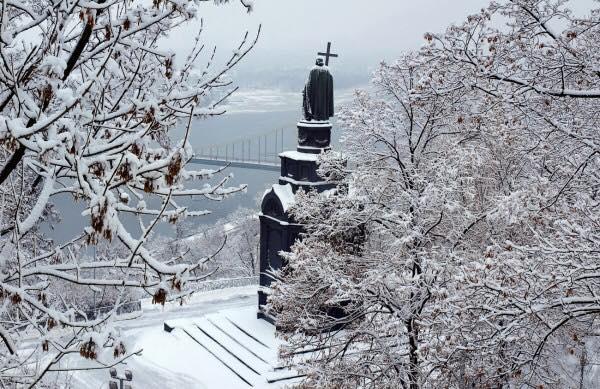 Зима в Киеве, иллюстрация