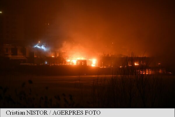 В Бухаресте дотла сгорел элитный клуб: опубликованы фото и видео с места происшествия