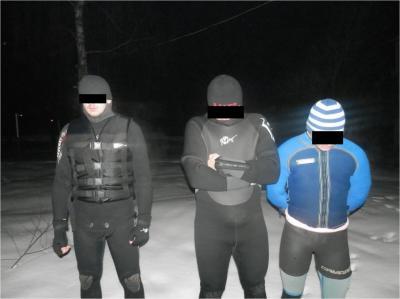 На Закарпатье поймали трех