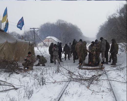 Заблокирована железная дорога Луганск — Попасная