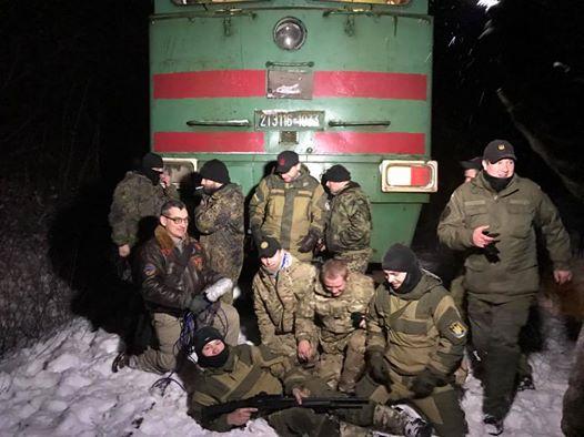 Участники блокады перевозок с ОРДЛО, иллюстрация