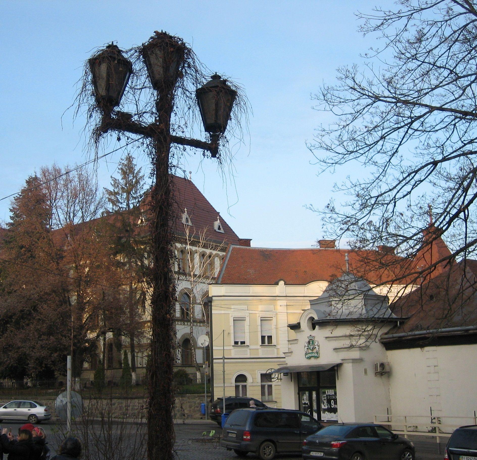 Улицы Ужгорода напоминают центральную Европу