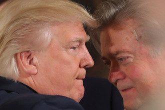 Дональд Трамп и Стив Беннон