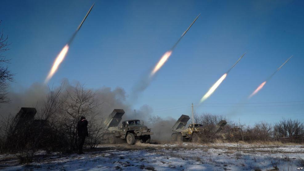 Вражеский обстрел на Донбассе