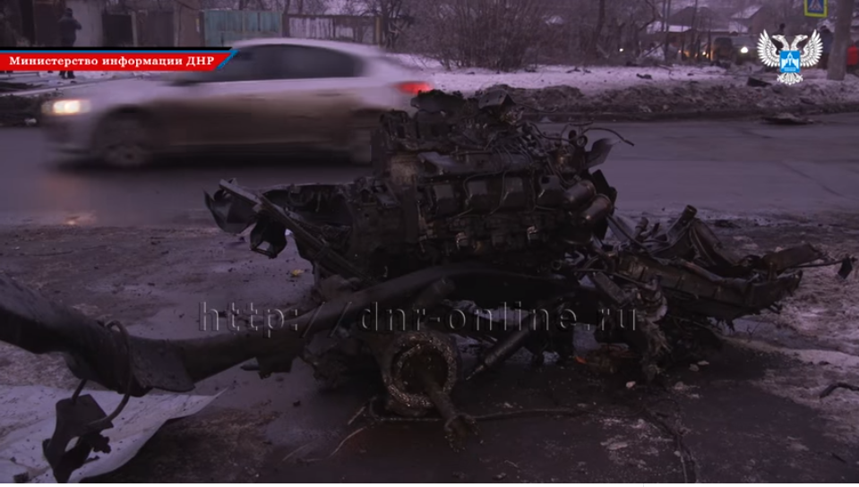 Двигатель взорвавшегося грузовика