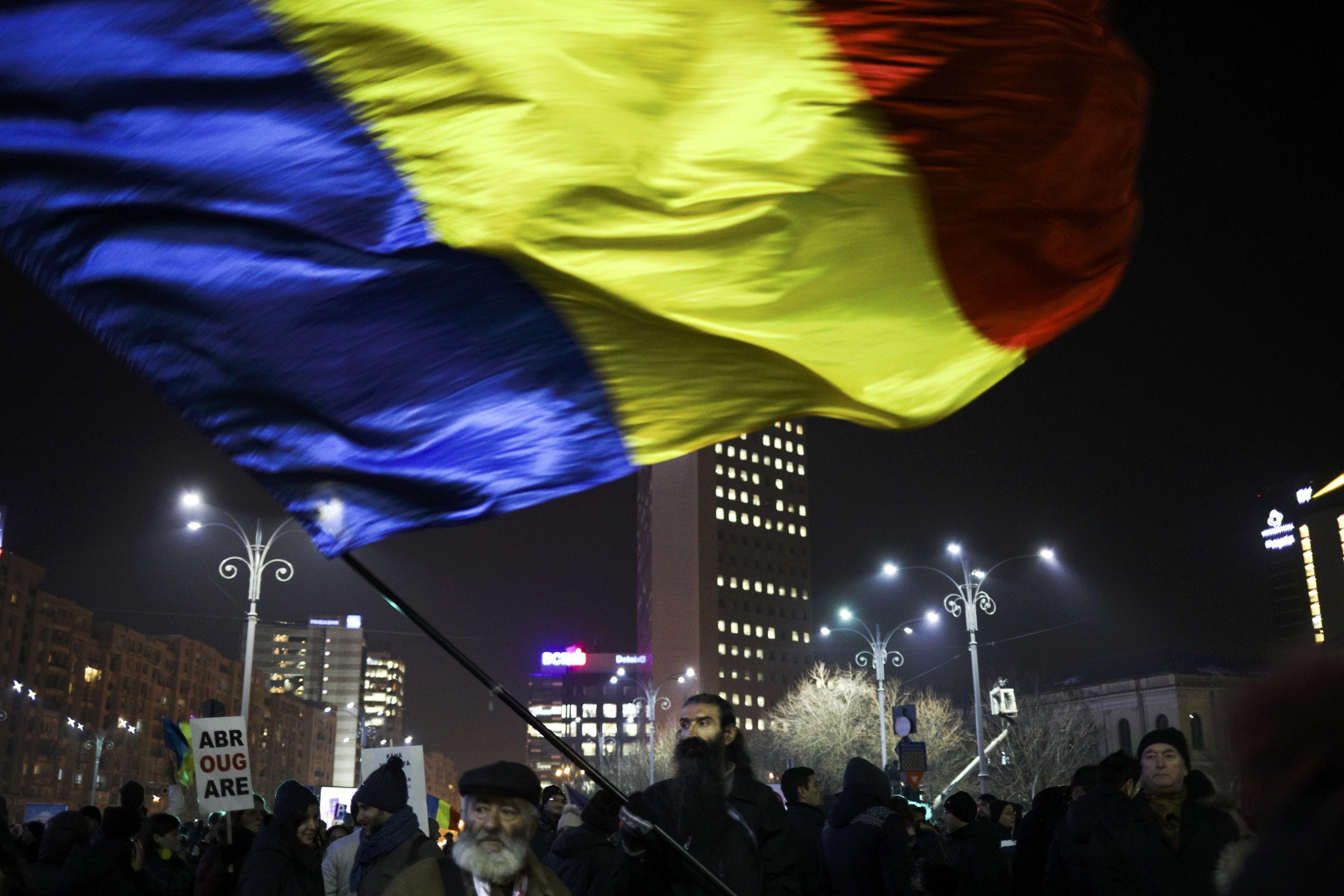 Протестующие румыны