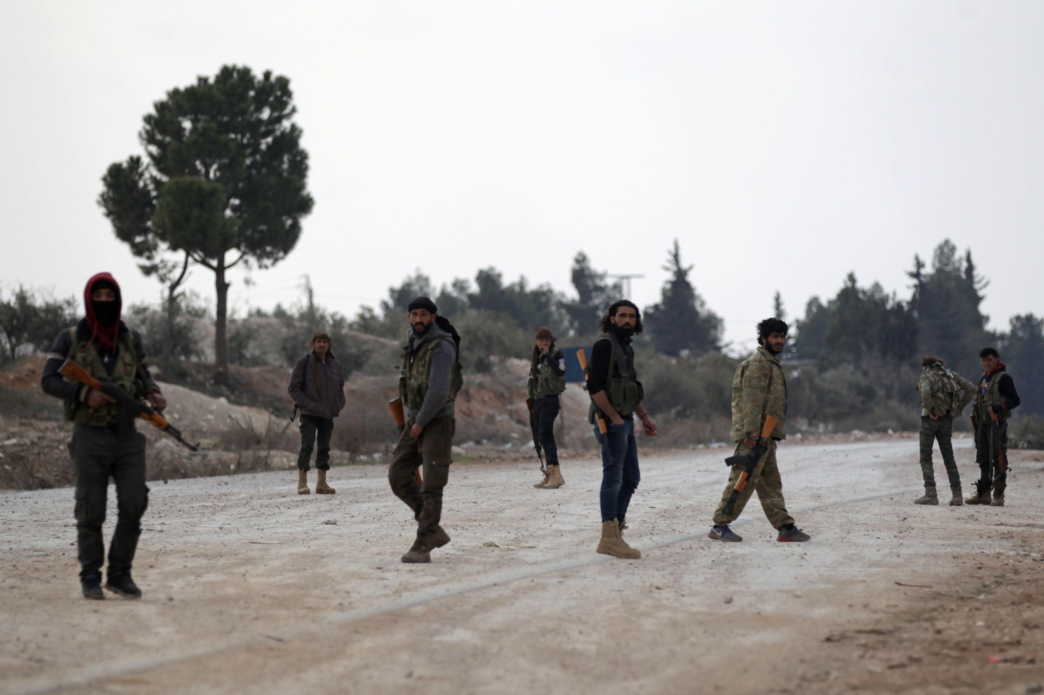 Бойцы сирийской армии, иллюстрация.