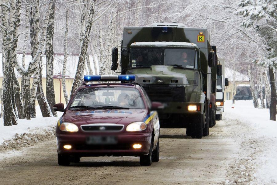 В Олевск перебросили бойцов Нацгвардии