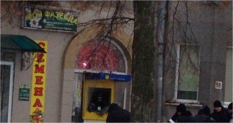 Взрыв банкомата в Сумах.