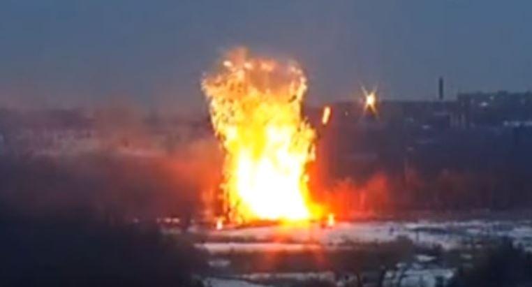 Уничтожение вражеской БМП возле Донецка
