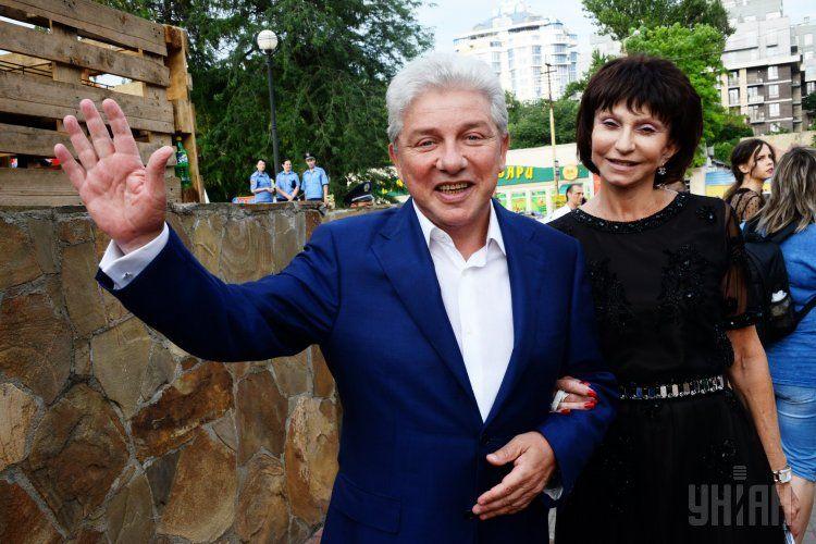 Олег Филимонов с супругой Ларисой на открытии Одесского кинофестиваля. 2015 год
