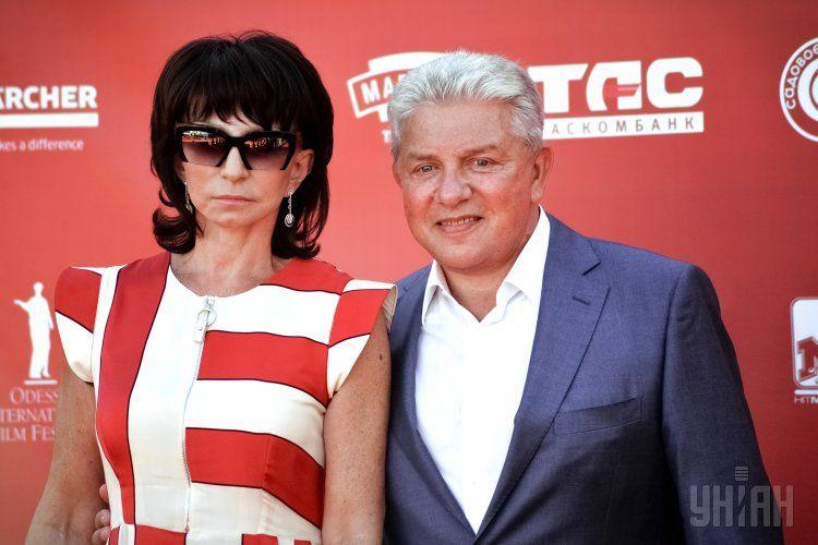 Олег Филимонов с супругой Ларисой на открытии Одесского кинофестиваля. 2016 год