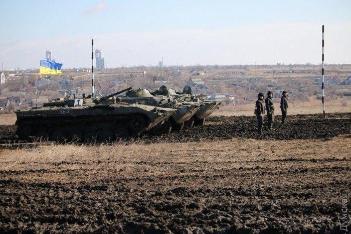 Украинские БМП на учениях