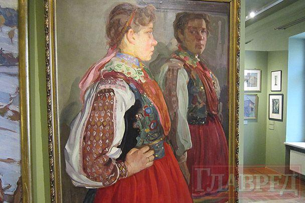 Девушка в народном платье