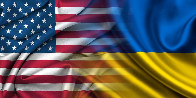 Флаги США и Украины, иллюстрация