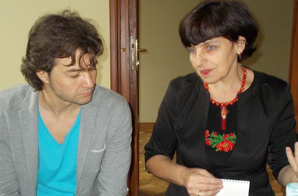 Министр культуры Евгений Нищук и Мария Туцька