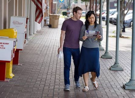 Марк Цукерберг и Принцилла Чан