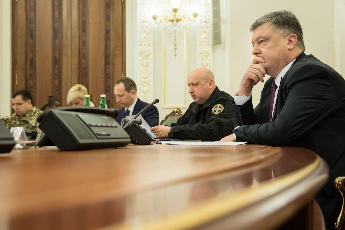 СНБО, заседание, Порошенко