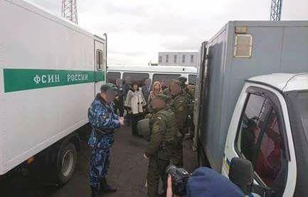 Перемещение заключенных из Крыма.