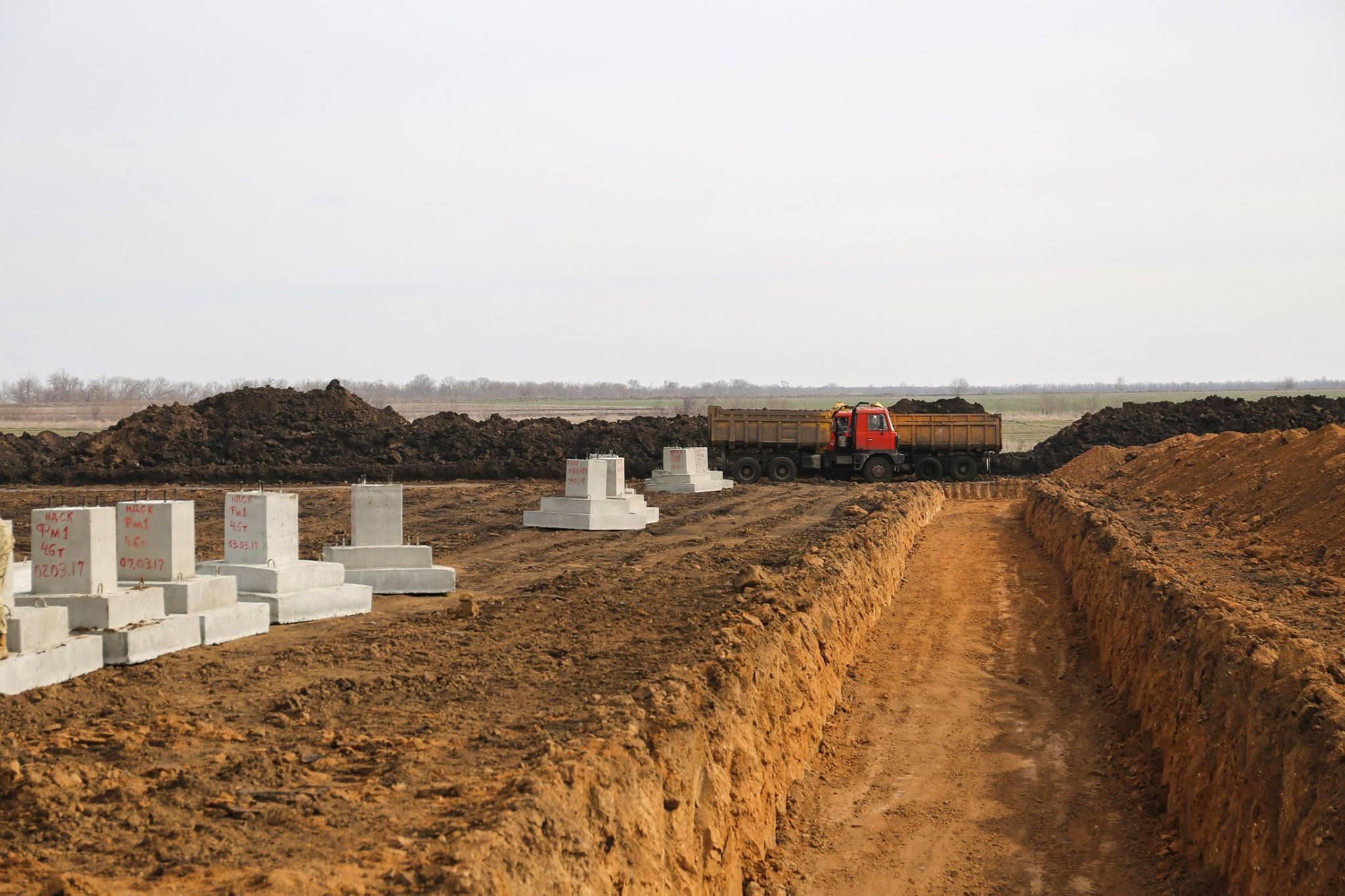 На полигоне на Николаевщине началось масштабное строительство