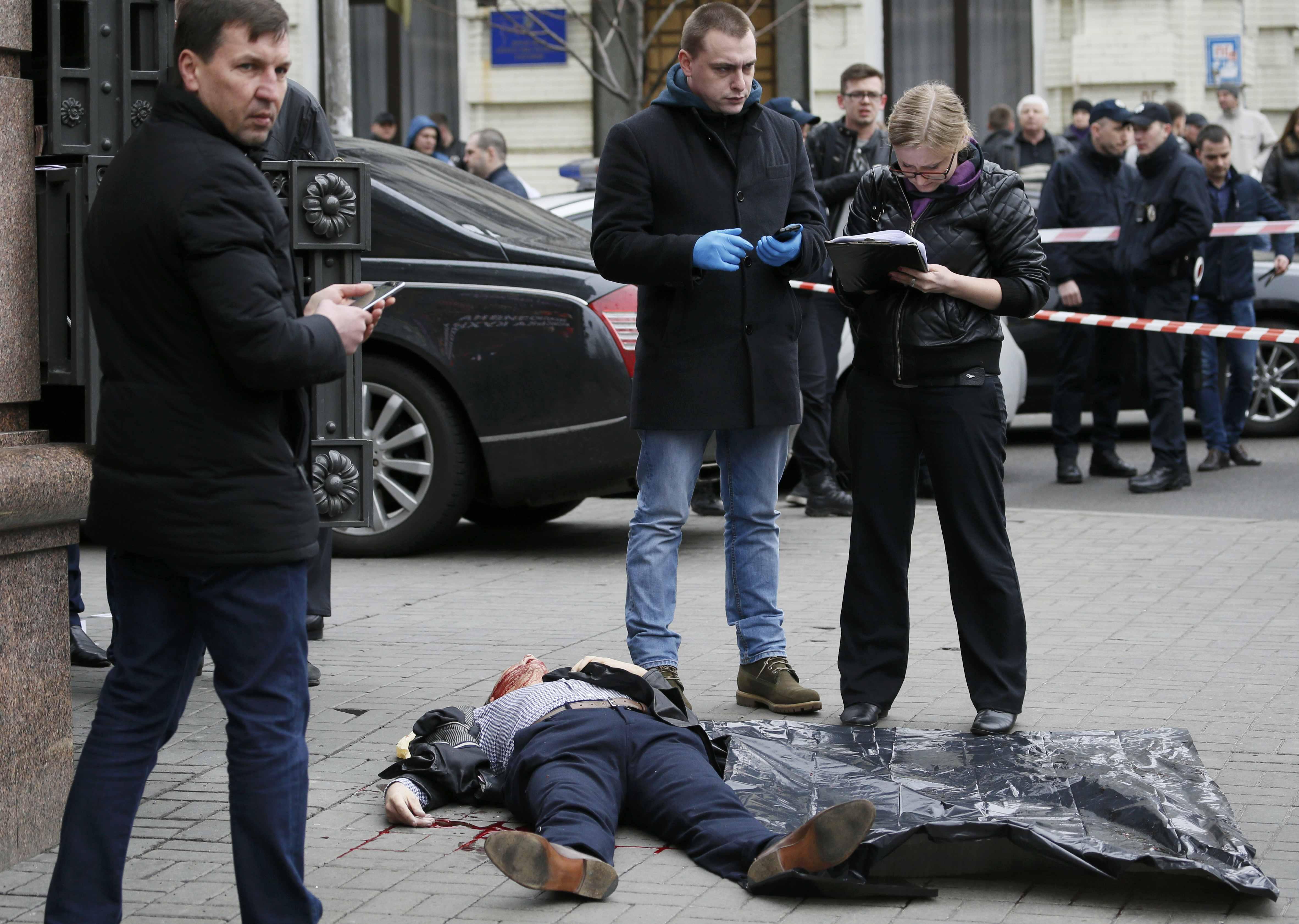 Место убийства Вороненкова