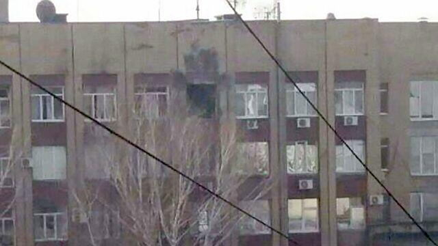 В Донецке из гранатомета обстреляли