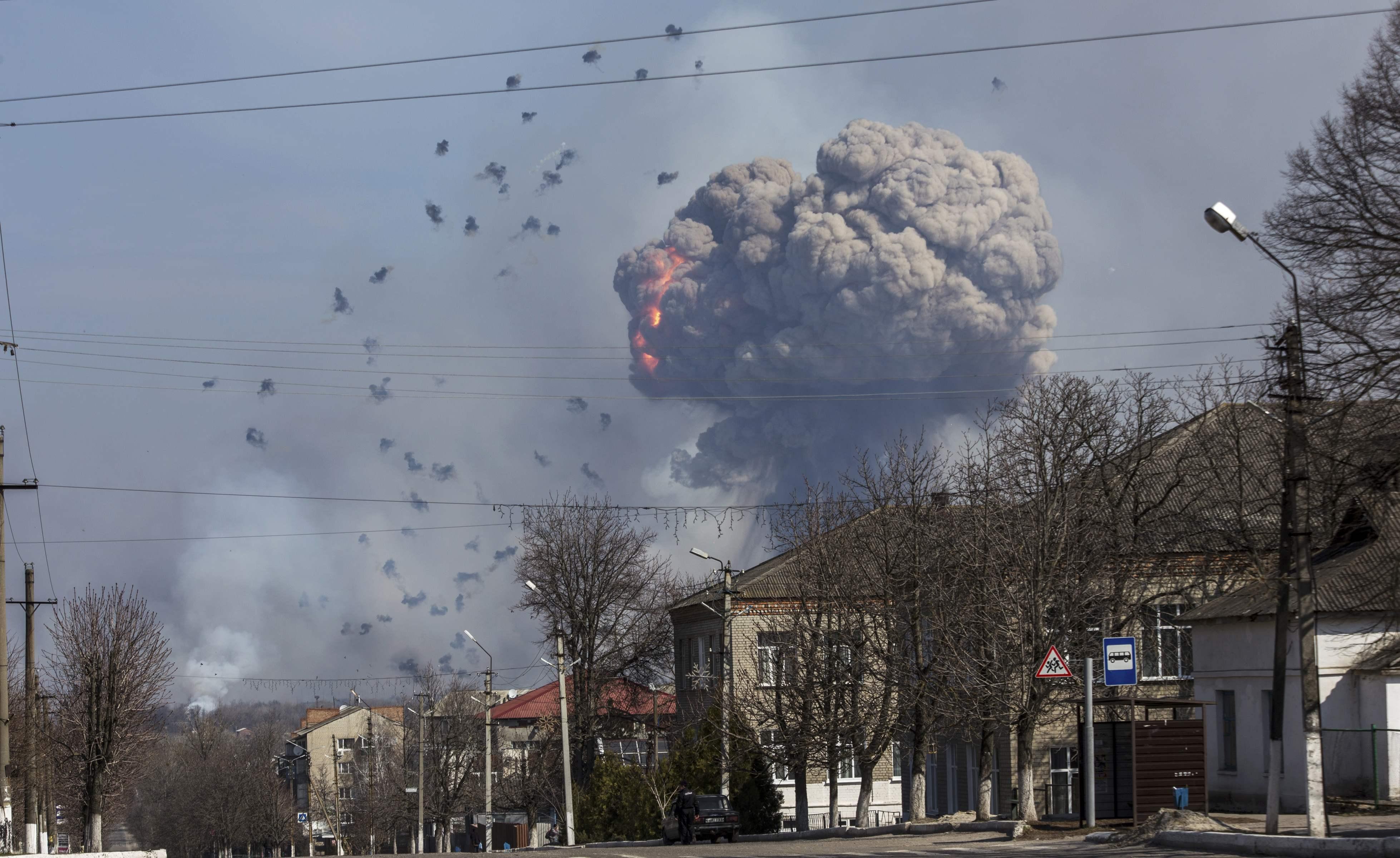 Взрыв в Балаклее, иллюстрация