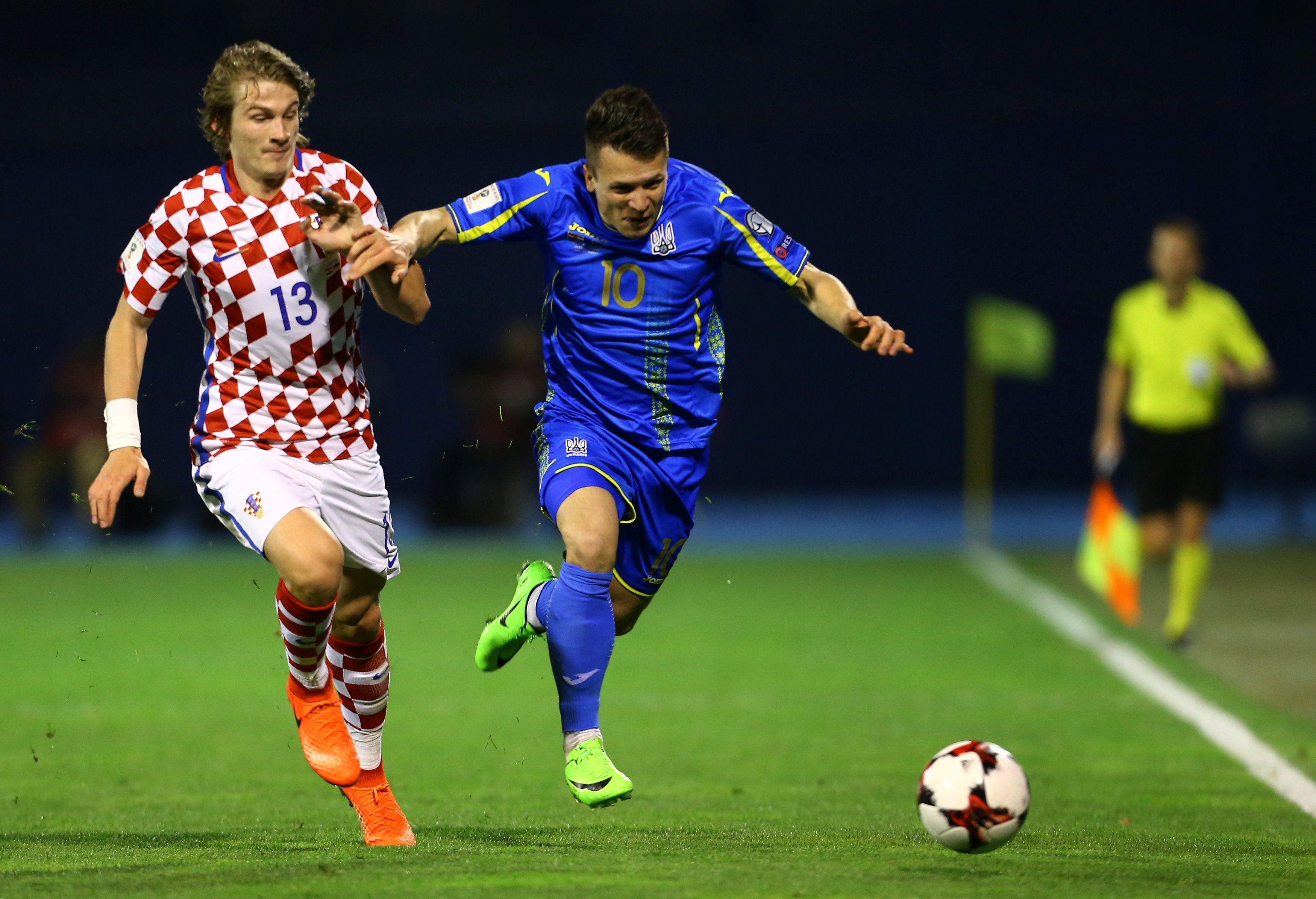 Матч Хорватия - Украины закончился победой балканцев - 1:0