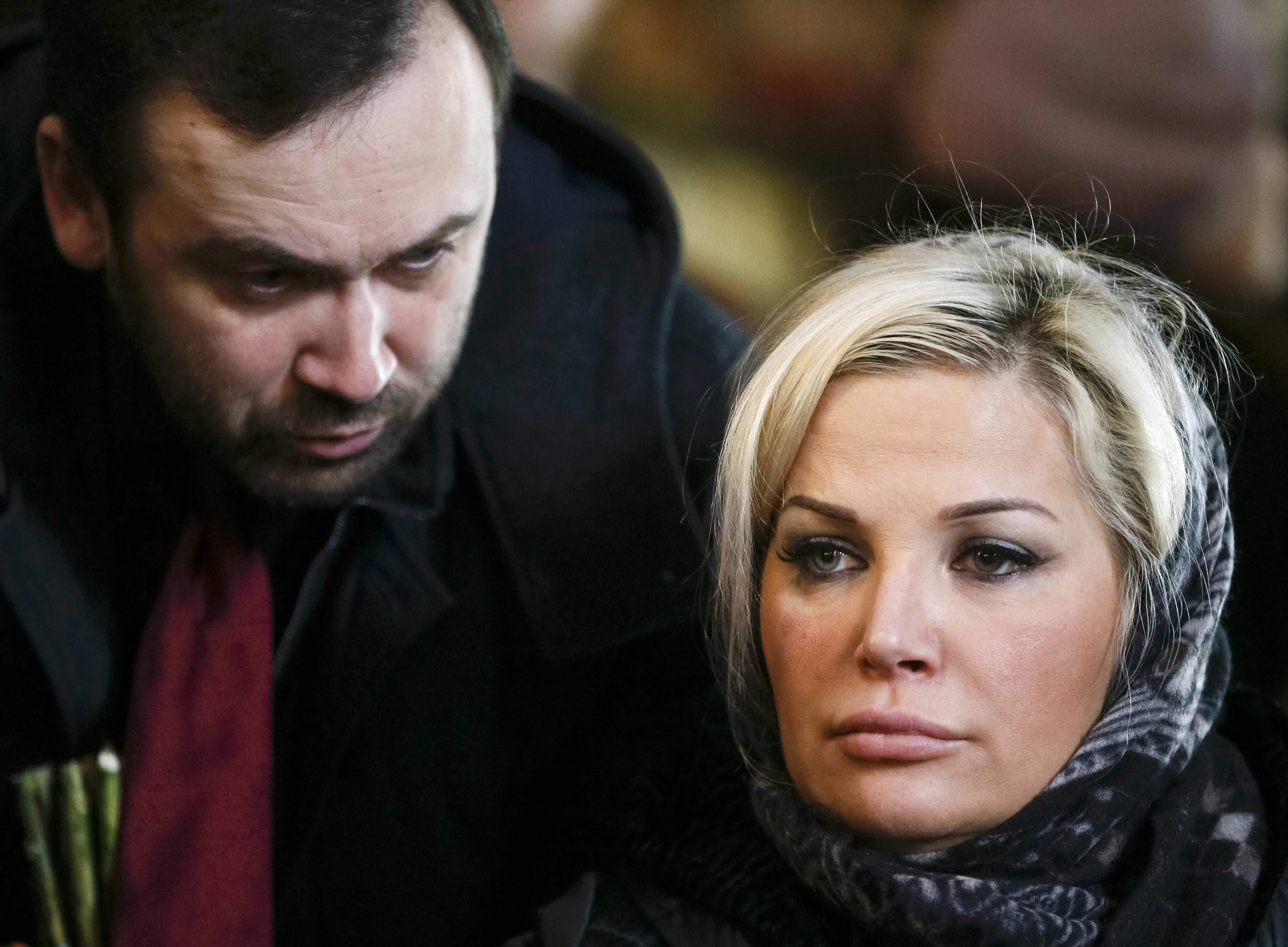 Илья Пономарев и жена Вороненкова.