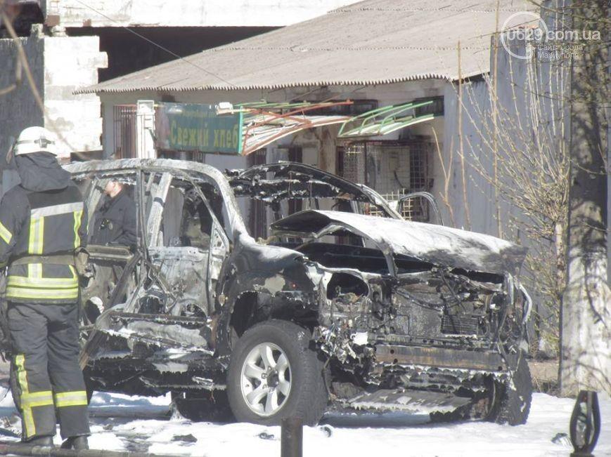 Взрыв джипа в Мариуполе.