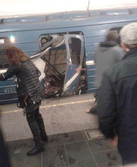 Результаты взрыва в метро Санкт-Петербурга
